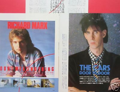 Ric Ocasek CARS RICHARD MARX 1987 CLIPPING JAPAN MAGAZINE PG 11A 4PAGE