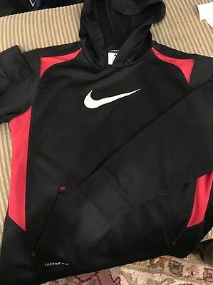 black and red nike hoodie