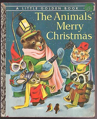 Vintage Little Golden Book THE ANIMALS' MERRY CHRISTMAS Richard Scarry 1st Ed