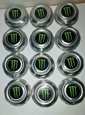 12 MONSTER ENERGY DRINK 24oz  CAN CAPS/LIDS