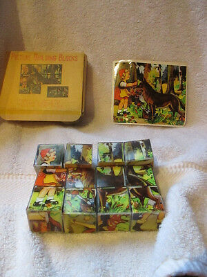 vintage Fairy Tale puzzle blocks forms 6 different fairy tales. Chadwick-Miller