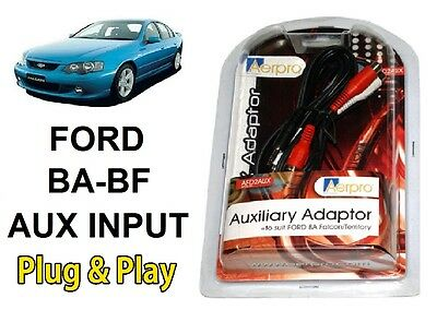 FORD FALCON BA-BF AUXILIARY AUX ADAPTOR AERPRO iPHONE iPOD iPAD SAMSUNG ANDROID