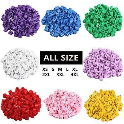 "Colored Hanger Sizer Garment Markers ""XS-5XL""Plastic Size Marker Tags All Sizes"