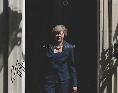 Theresa May Hand Signed 8x10 Photo, Autograph, Current British Prime Minister B