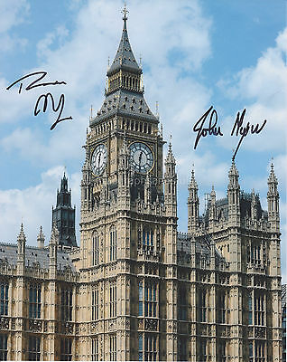 Theresa May & John Major Hand Signed 8x10 Photo, Autograph, Prime Minister