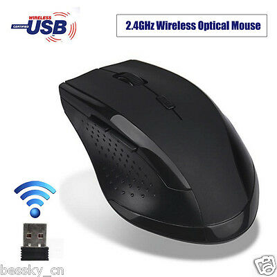 2.4GHz 6D USB Wireless Optical Gaming Mouse 2000DPI Mice For Laptop Desktop PC