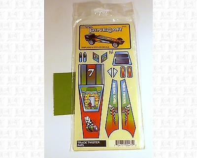 Pinecar Pinewood Derby Stick On Decals Track Twister Car Markings P475
