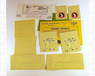 Champ O Decals Great Northern Boxcar White OB-355A