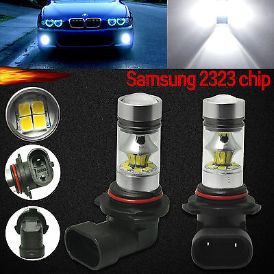 2x 9005 HB3 9040 Samsung LED Fog Driving Light 100W HID White DRL Projector Bulb