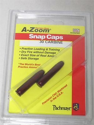 30 Caliber Carbine A-ZOOM SNAP CAPS 2-Pack Solid Anozidized Dummy Training Ammo