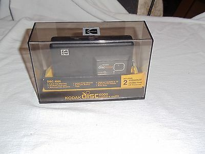 Vintage Kodak disc 6000 Camera IN CASE WITH MANUALS GOOD BATTERY WORKS