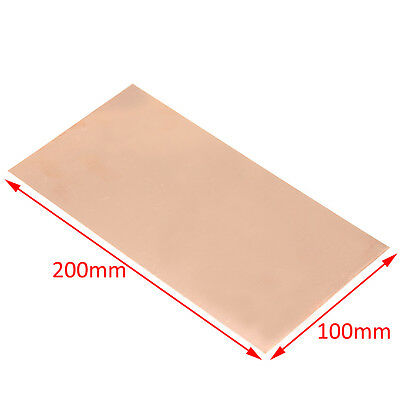 1pc 99.9% Pure Copper Cu Metal Sheet Plate Foil Panel 100*200*0.5MM new