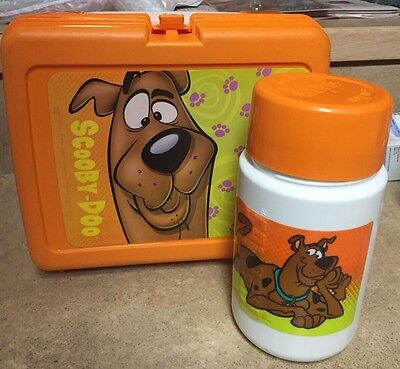 """VINTAGE Thermos SCOOBY DOO PLASTIC LUNCH Box 7-1/2"""" X 8-1/2"""""""