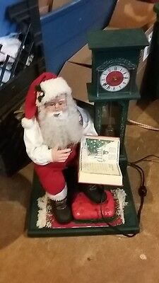 Motionette Animated Story Telling Santa Cassette Player W/clock Works Christmas