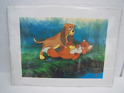 disney store exclusive commemorative lithograph print fox and hounds