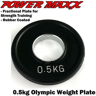 POWER MAXX 0.5kg Olympic Weight Plate Pair Lifting Training Power Fractional