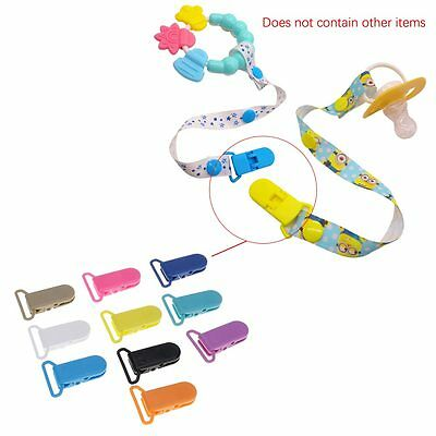 10Pcs Durable Toddler Infant Nipple Dummy Pacifier Holder Clips For 20mm Ribbon