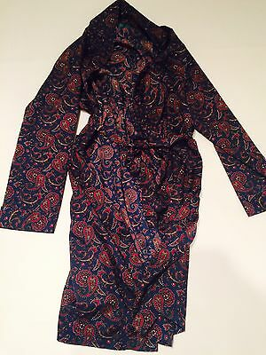 vintage dressing gown smoking jacket  mens M Robe Paisley Men's 80s