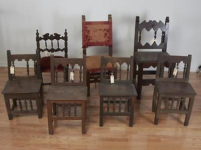 (7) antique Spanish Colonial side chairs Lot 204