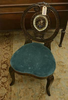 Nice Victorian jeweled eglomise splat side chair Lot 141