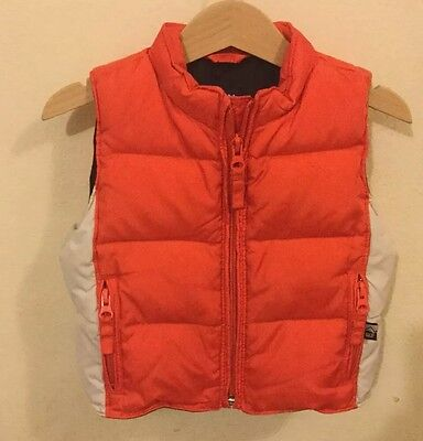 Baby Gap Baby Boy Warmest Down Vest Size 12-18Months
