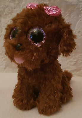 TY Beanie Boos, Maddie the Dog, Glitter Eyes, Approx Size 15cm