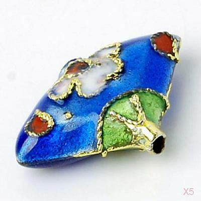 5Pcs Charm Cloisonne Spacer Bead for Jewelry Bracelet Dream Catcher DIY Make