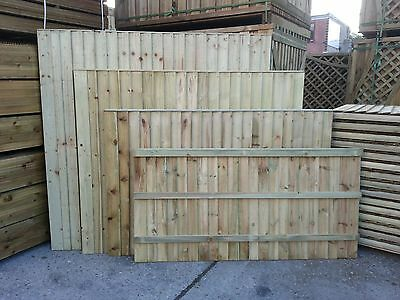 Closeboard Featheredge Fence Panels 0.9x1.83m / 3ftx6ft Pressure Treated
