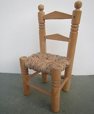 Vintage Miniature Wooden Chair - for small Teddy Bear or Doll