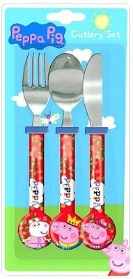 Spearmark 3 Piece Peppa Pig Round Cutlery Set