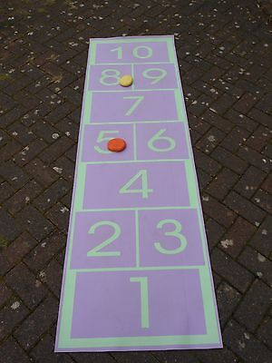 Hopscotch Play Set Mat Toy Game Inside Garden Exercise Keep Fit