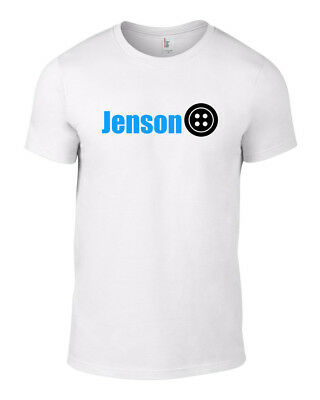 White Jenson Button T-shirt Retire F1 McLaren Honda Racing British Formula One