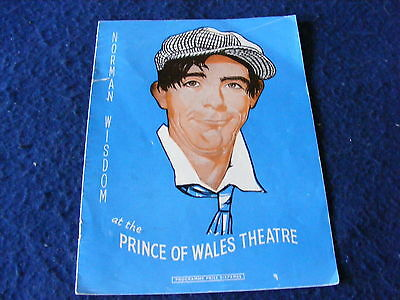 VINTAGE PROGRAMME NORMAN WISDOM PRICE OF WALES THEATRE 1950's.