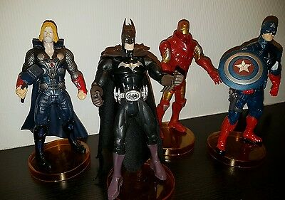 Marvel The Avengers 4 Figuren Set 15cm Iron Man Thor Batman Captain Amerik Figur