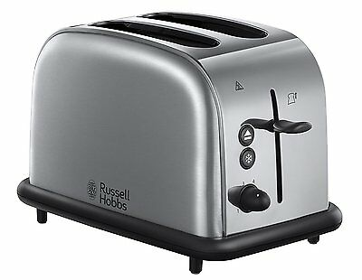 Russell Hobbs 20700 2 Slice Wide Slot Toaster - Brushed Stainless Steel