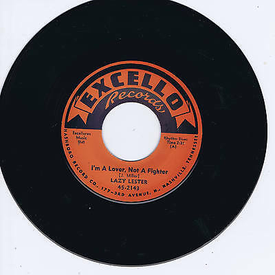 LAZY LESTER - I'M A LOVER, NOT A FIGHTER / SUGAR  COATED LOVE (Hot BLUES Bops)
