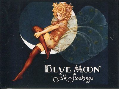 Postcard Of Vintage Advertising For Blue Moon Silk Stockings