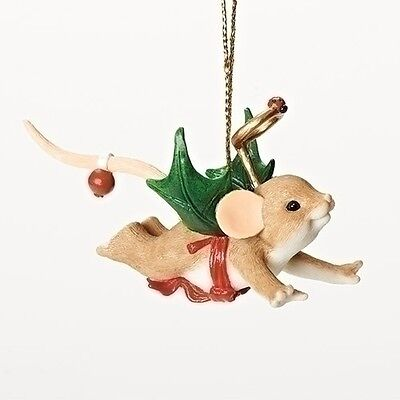 Charming Tails My Little Holly-day Angel Mouse Ornament Christmas NEW 2016 30381