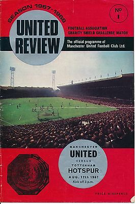 FA CHARITY SHIELD 1967 Man Utd v Tottenham - score on the front