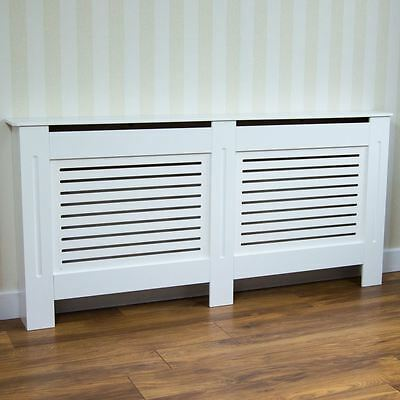 Radiator Cover Modern White Medium Cabinet MDF Painted Wood Grill Furniture