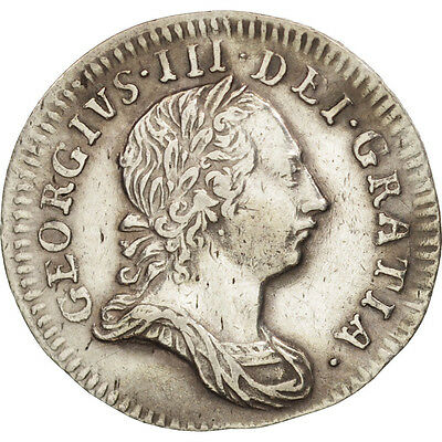 [#19418] Great Britain, George III, 3 Pence, 1762, AU(50-53), Silver, KM:591