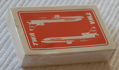 TWA Playing Cards 1Deck SEALED  w. 2 Boeing 727s on Reverse