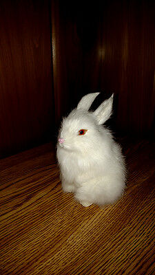 Realistic EASTER BUNNY RABBIT FUR REPLICA Photo Prop Toy 1817w FREE SHIPPING USA