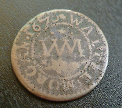 Wales Chepstow 17th Century Token W12 1/4d 1670 Walter Morgan Scarce