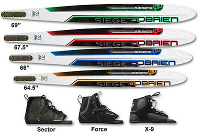 """O'brien Seige 67.5"""" Waterski With Standard X9 Binding And Rtp"""