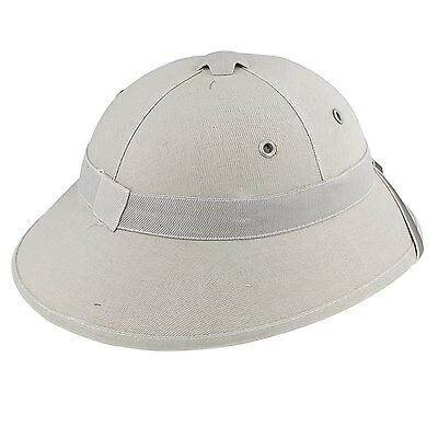 Vietnam War Army Hat Hunter Fancy Dress Costume With Pith Helmet Cap Gray