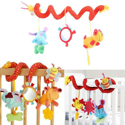 Lovely Animal Handbells Developmental Toy Bed Bells Kids Baby Soft Toys Rattle