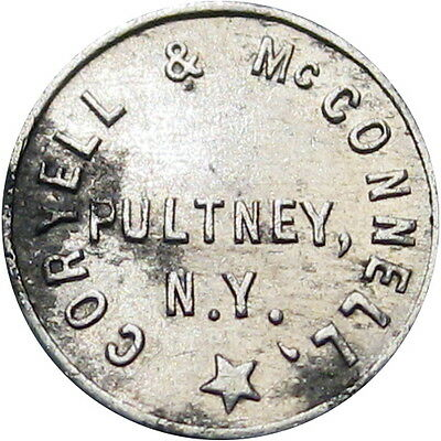 Pultney New York Good For Token Coryell & McConnell Cigar