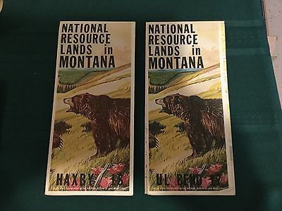 2 NATIONAL RESOURCE LANDS in MONTANA MAPS -BLM 1977