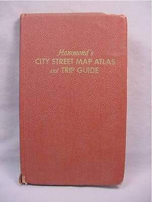 Hammonds 1951 City Street Map Atlas and Trip Guide